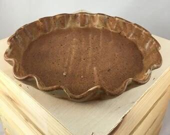 Handmade Ceramic Pie Dish, Tart dish
