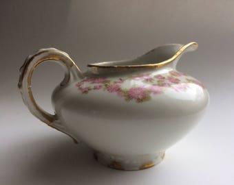 Antique Porcelain Creamer GDA Limoges, France | Vintage Creamer