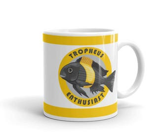 Aquarium Fish Lover Mug - African Cichlid Owner Mug - Tropheus Enthusiast - Coffee Drink Mug