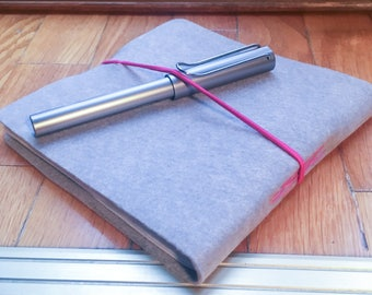 Grey sketchbook with square format