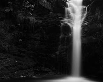 Rivington Waterfall Print on Aluminium