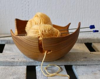 Wood yarn bowl from Cherrywood