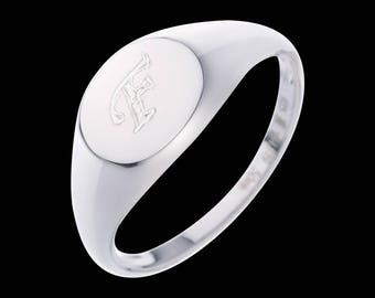 Personalized Signet Ring - Custom Signet Ring - Engraved Ring - Letter Ring - Personalized Ring - Personalized Jewelry - Personalized Gift
