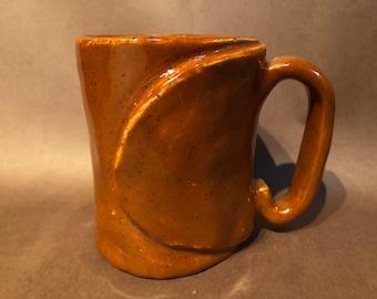 Speckled Red Slab Mug