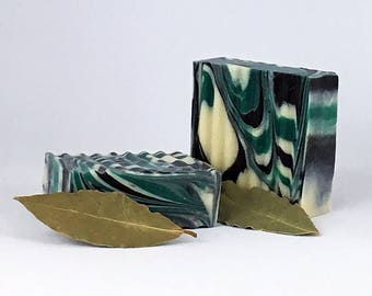 Bay Rum Soap with Activated Charcoal