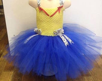 Cowgirl toy story tutu dress, fancy dress, birthday party costume for girls