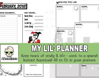 My Lil' Planner Inserts 2018