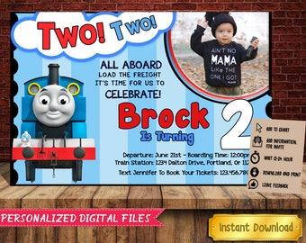 Thomas Invitation Etsy - Birthday invitation card thomas and friends