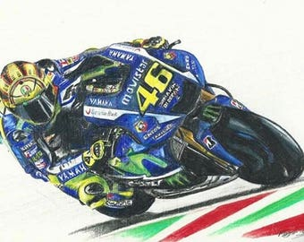 VALENTINO ROSSI Print Limited Edition to 50