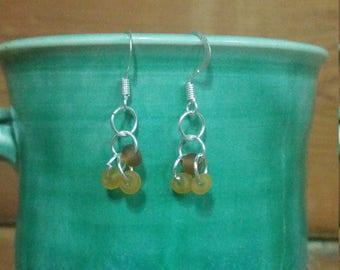 Brown bead earrings