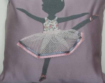 Pretty ballerina decorative cushion