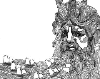 Poseidon - Limited Edition of 50 Signed Giclee Prints