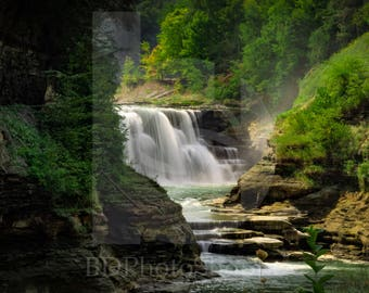 Lower Falls of Letchworth | Landscape Photo Art | Gift | Fine Art Photography | Personalization | BDPhotoShoppe | Home Office Decor