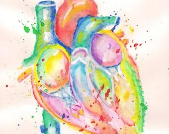 Printable Watercolor Heart