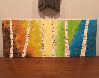 Acrylic Colorful Tree Painting