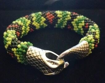 Snake beaded bracelet