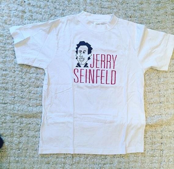 Seinfeld Shirt Size Small NBC Kramer Jerry George Elaine Blue Vintage 1996 90s T-Shirt MRV2aX