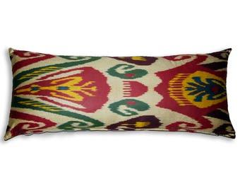 Large Cotton Uzbekistan Genuine Ikat Cushion with Zip