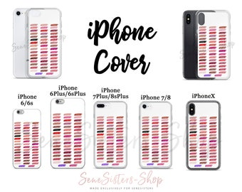 iPhone Cover Lipsense 50 Lip Color Swatches Phone Case