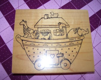 Daisy Kingdom Noah's Arc Rubber Stamp