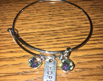 Expandable Swarovski HOPE bracelet