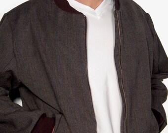 "Mens Blouson ""Cara Lana""-Italian wool-individual production-made in Germany"