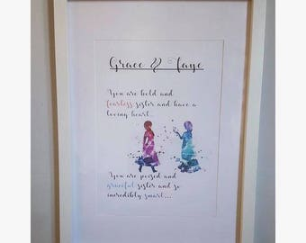 Personalised Print - Sister's Quote