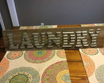 Handmade Laundry sign