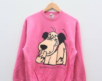 WACKY RACES Hanna Barbera Production Pink Vintage Sweater Sweatshirt
