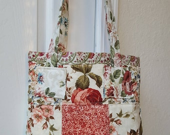 Floral Quilted Tote Bag