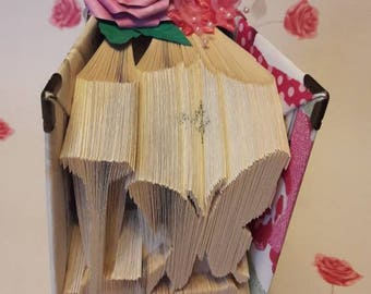 Beautiful...fully decorated ...handcrafted... 'Love with butterfly' book fold