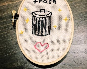 Classy trashy cross stitch