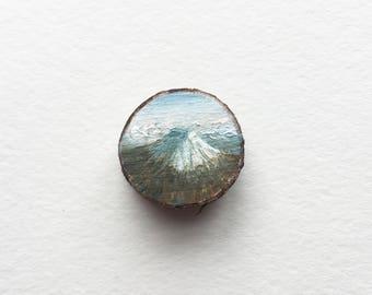 Mount Fuji, Original Miniature Painting