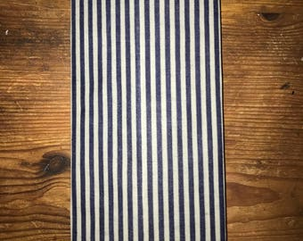 Reusable Beeswax Food Wrap Thin Nautical Stripe Blue White Small 20cm x 20cm Eco Friendly