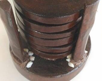 handmade wooden coaster
