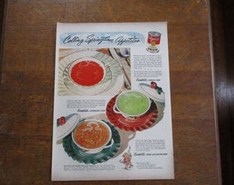 Vintage 1954 Campbell's soup ad