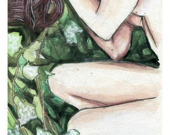 """Woman in Nature 8.5"""" by 11"""" Print"""