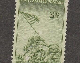 Iwo Jima U.S. Stamp 1945 Commemorative 3c Marines World War 11