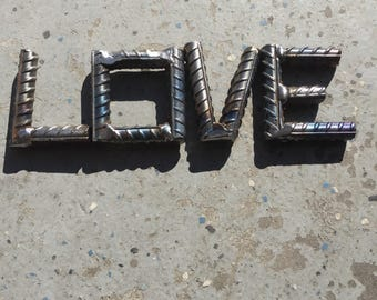 Love, metal sign