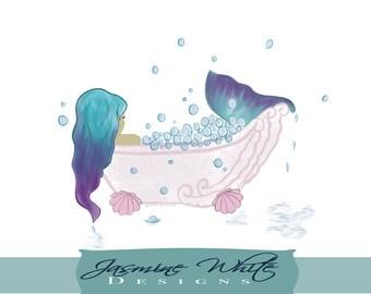 Mermaid in bath
