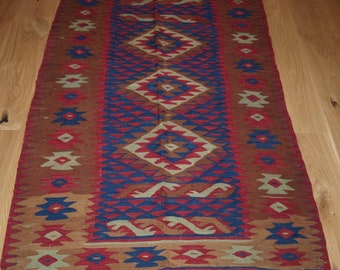 Old Sharkoy Kilim, Small Size with Good Colour & Design, Circa 1920.