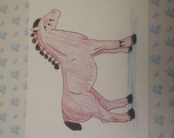 pencil strong horse: cheif