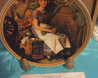 Norman Rockwell Plate-Dreaming in the Attic