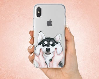Husky case Husky Iphone 8 cover Husky Samsung case Husky  Google Pixel case Husky Iphone 7 case Husky Iphone X cover Dog case Gifts Cute dog