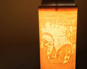 3d lithograph Print-ready for use with clip on LED lamp