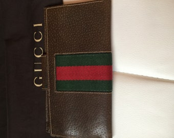 Early vintage Gucci Wallet  red & green stripe Gucci