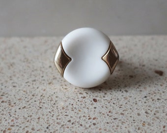 Vintage Button Ring, Handmade Ring, Oval Ring, Gold Ring, Statement Ring, Adjustable Ring, Mother Gift, Gifts for Her