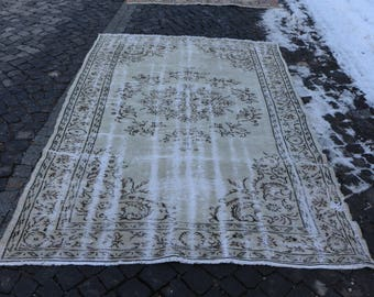 Free Shipping Anatolian Rug Handknotted Turkish Rug Bohemian Rug 5.4 x 8.7 ft. Tribal Rug Quick Shipping Faded Color Oversize Rug MB64