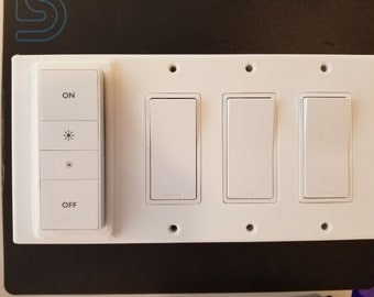 Philips Hue dimmer switch 3 gang decora reversible magnetic cover/plate