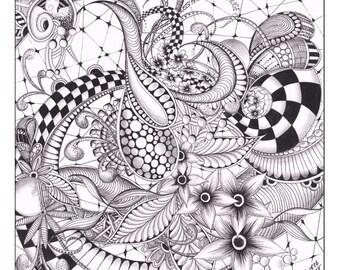 Zentangle/ doodle illustation